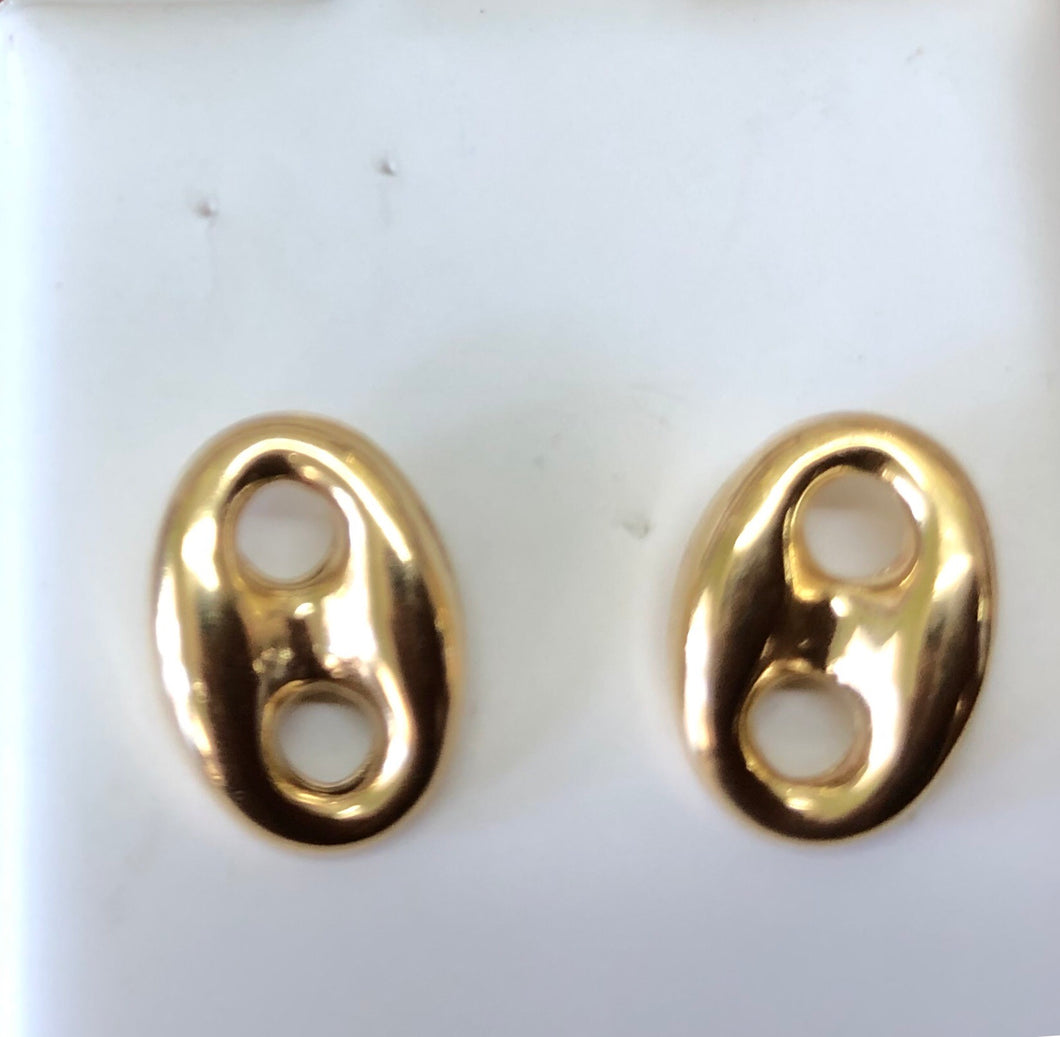 0bb7ed072c444 14k gold Gucci earrings 10mm