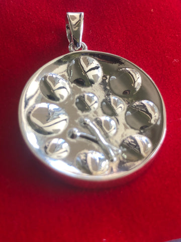 Quarter size sterling silver Steel pan drum pendant