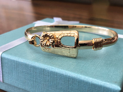 Gold filled Sugar mill with Hibiscus flower bracelet
