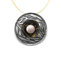 Tahitian pearl and 18K gold necklace
