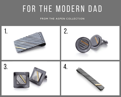 Silver and gold money clips, cufflinks, tie bar for Fathers Day gifts