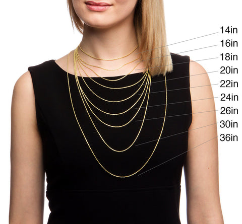 Necklace Lengths on neck
