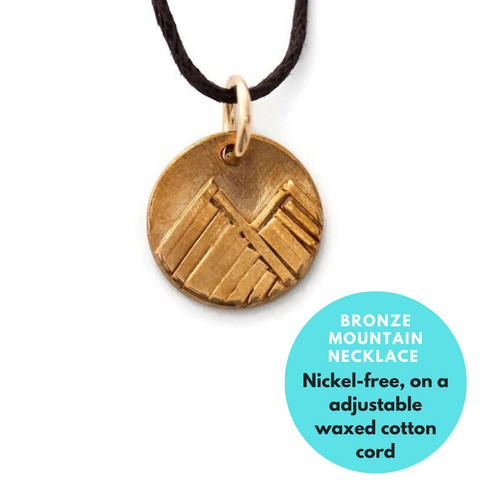 bronze mountain pendant