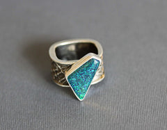 Opal and Silver ring Jen Lesea Designs