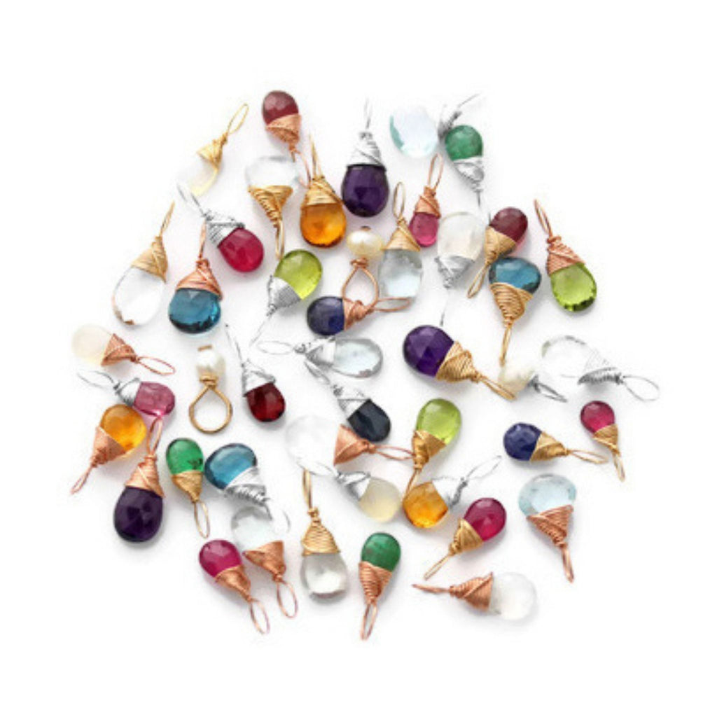 Birthstone charms by Jen Lesea Designs