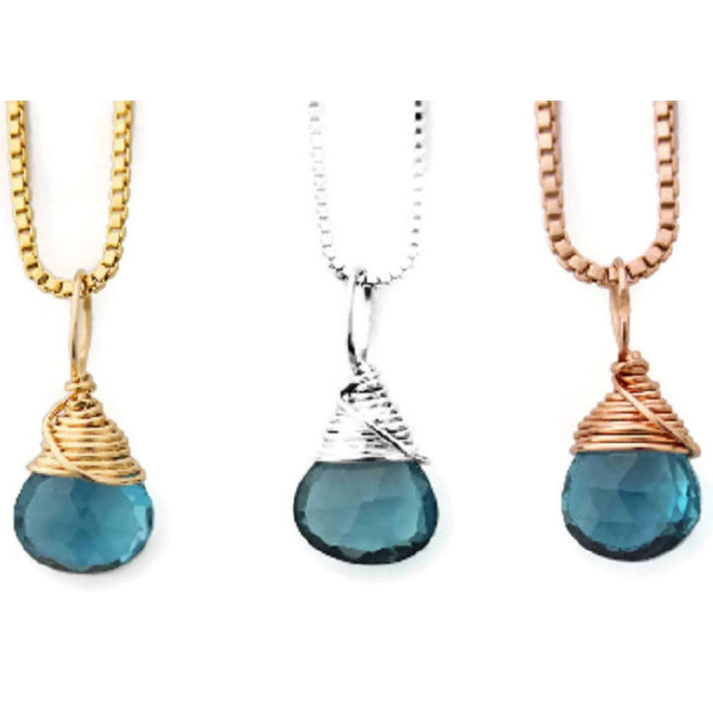 December birthstone necklaces by Jen Lesea Designs