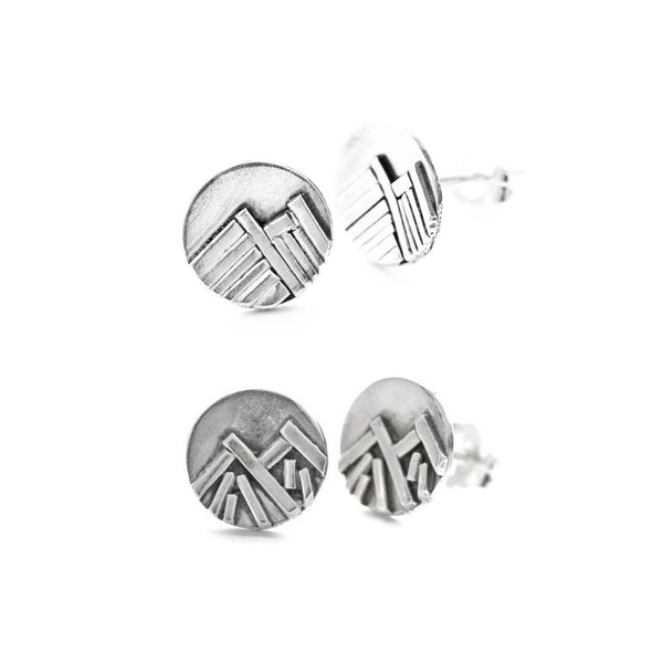 Mountain stud earrings by Jen Lesea Designs