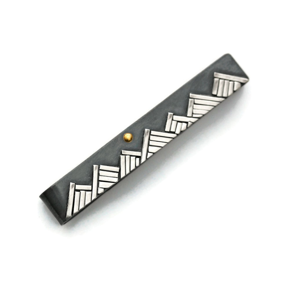 Mountain tie bar by Jen Lesea Designs