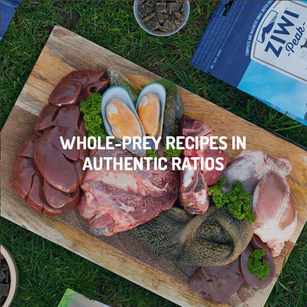 WHOLE-PREY RECIPES IN AUTHENTIC RATIO