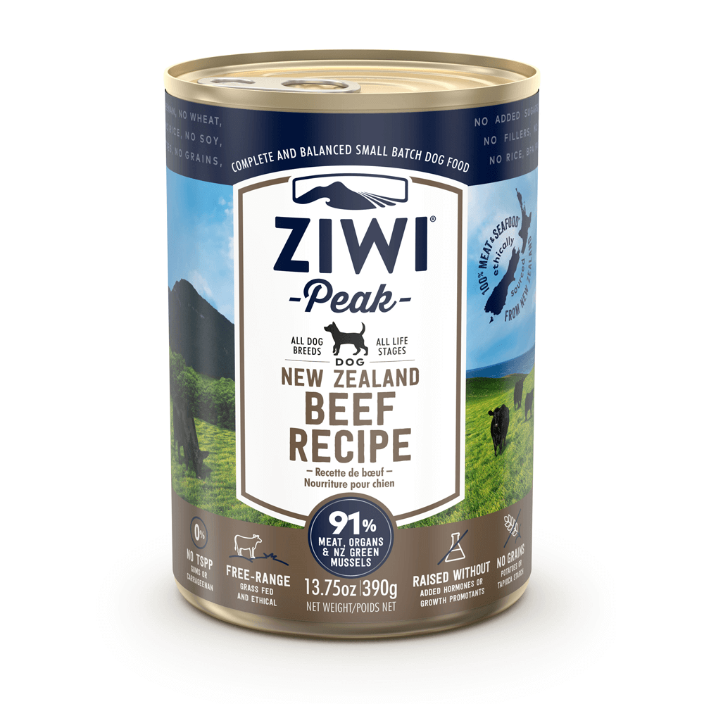 Ziwi Peak Wet Beef Cans For Dogs 390g