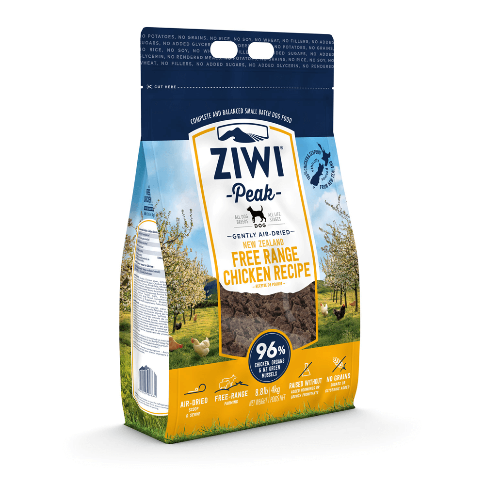 Ziwi Peak Air-Dried Free-Range Chicken For Dogs 454g, 1kg, 2.5kg & 4kg