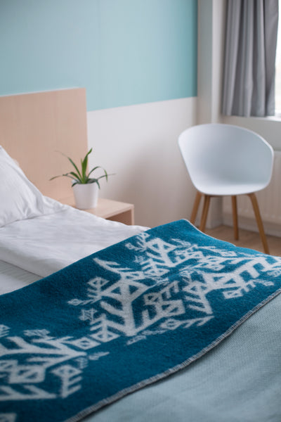 Nordic Love Wool Blanket - Dark Teal