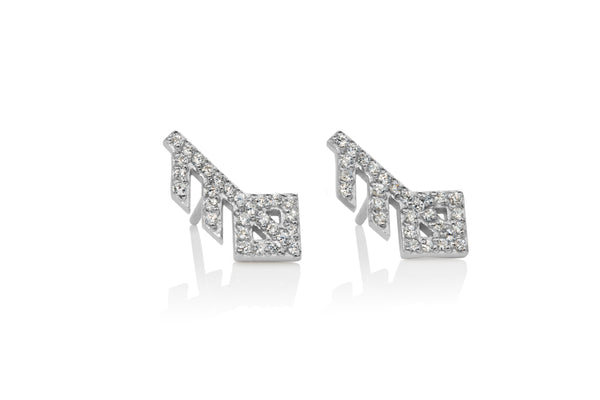 Love / Ást Crystal Studs