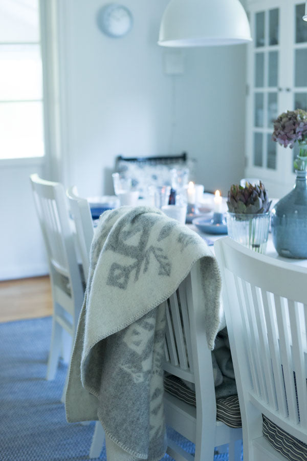 Love Nordic Wool Blanket - Light Grey