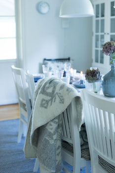 Nordic Love Wool Blanket - Light Grey
