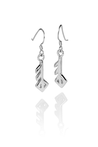Love / Ást Silver Earrings
