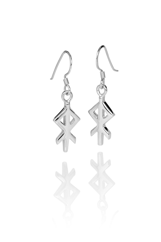 Heart / Hjarta Silver Earrings