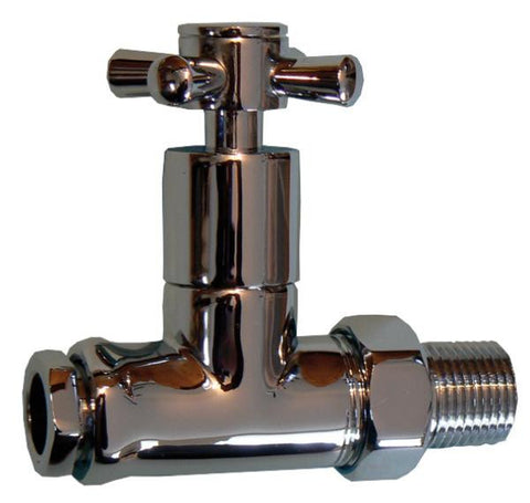 OPTIMA Straight towel warmer valve 15mm