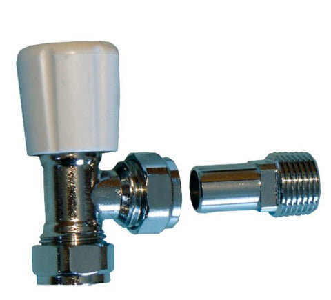 "OPTIMA Radiator valve 15mm - with 1/2"" tail"