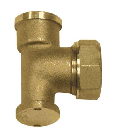 Brass DZR Wallplate elbow for MDPE