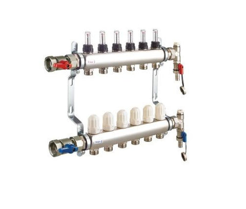 10 Port RWC Underfloor Heating Manifold
