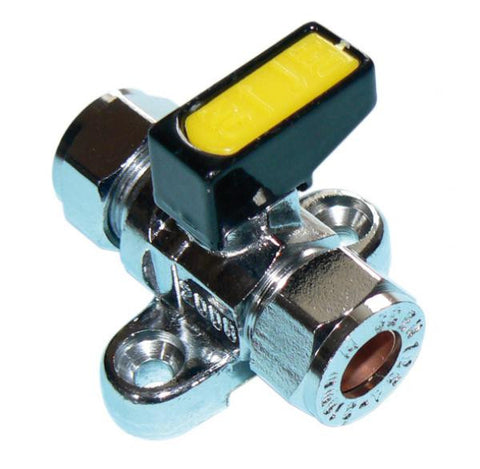 METROGAS Mini lever gas ball valve with backplate
