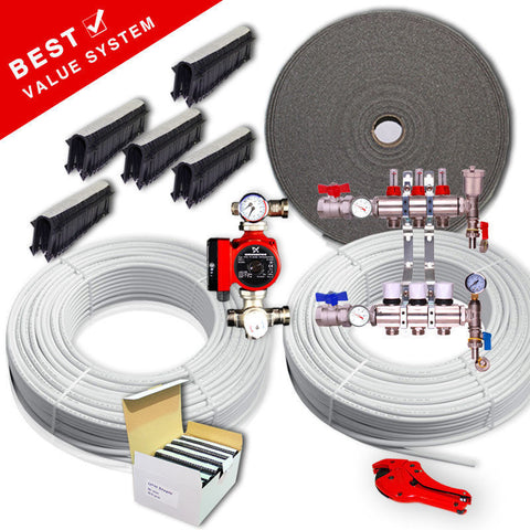 40sqm Water Underfloor Heating 2 Zone Kit