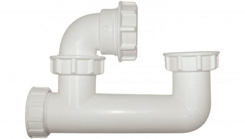 Low level bath trap with overflow access 50mm seal x 40mm