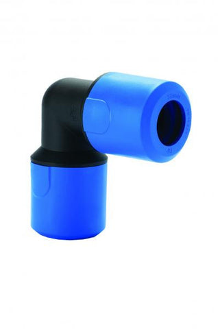 JG Speedfit Blue Equal elbow for MDPE pipe