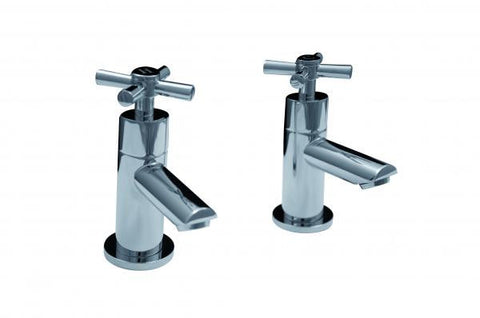 OCTAVO-X cross-head bath taps (pair)