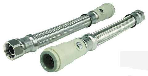 Flexible Braided Hose c/w Service Valve (300mm)