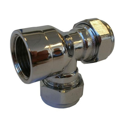 PX25 Chrome Threaded End Tee