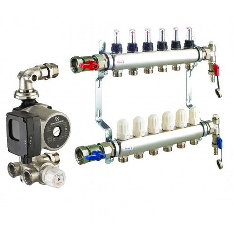 7 Port RWC Underfloor Manifold & Pump Set