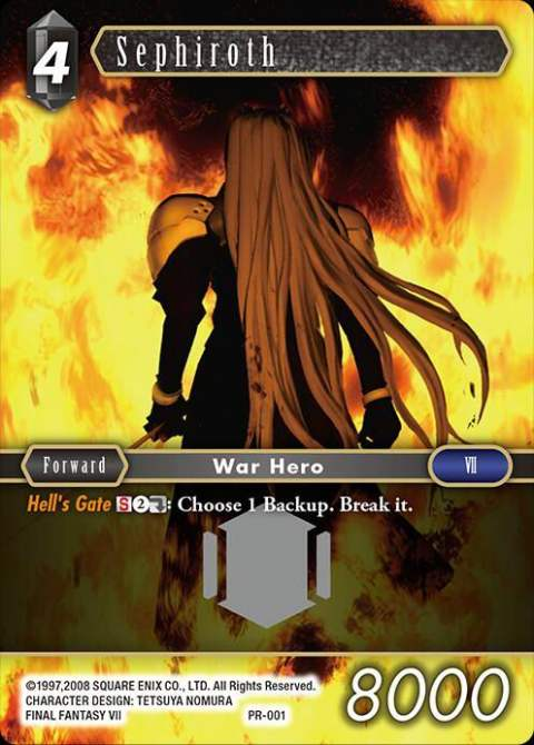 Sephiroth PR 001 Alternate Art Promo