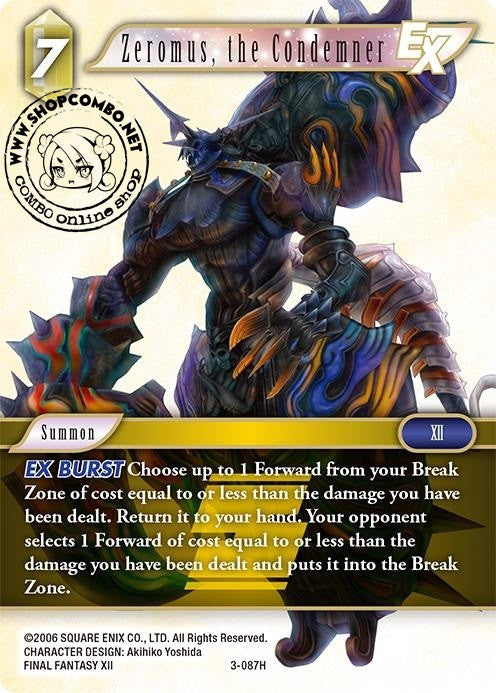 Zeromus, the Condemner 3-087 Foil