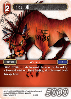Red XIII 1-029 C