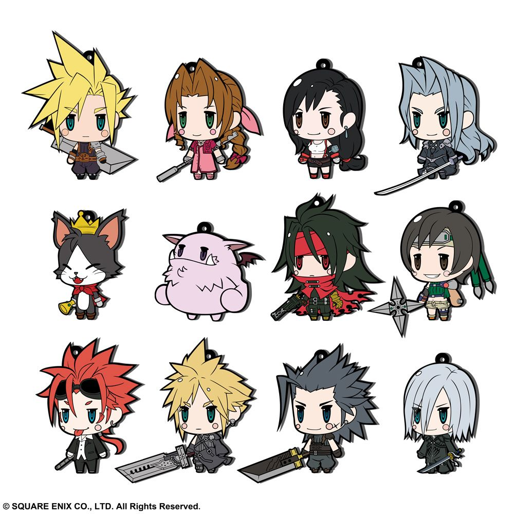 FINAL FANTASY Trading Rubber Strap FF VII Extended Edition - Set of 12