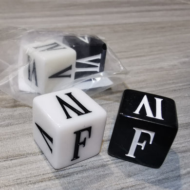 FINAL FANTASY TCG - DICE Black & White