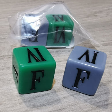 FINAL FANTASY TCG - DICE Green & Blue