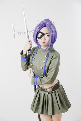 Reborn! - Chrome Dokuro Unifrom + Mukurp's spear Costume Cosplay Size M