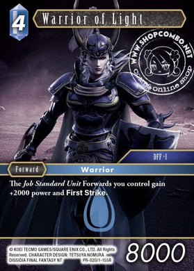 Warrior of Light PR-020/1-155R Alternate Art Promo Foil