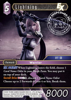 Lightning PR-022/3-118H Alternate Art Promo Foil