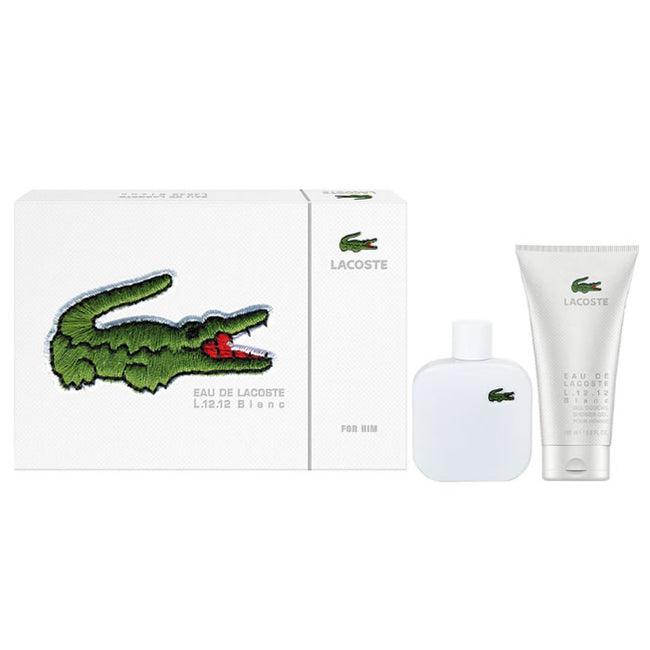 Lacoste L 12,12 Blanc Eau De Toilette Spray 100ml Set 2 Pieces 2017