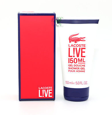 Lacoste Live Shower Gel 150ml Men Pour Homme Fragrances For Him New