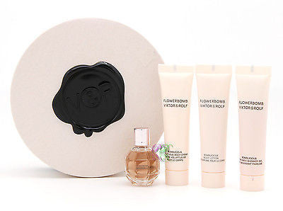 Viktor & Rolf Flowerbomb Edp 7ml Perfume Body Lotion Shower Gel Gift Set Women