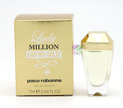 Paco Rabanne Lady Million Eau My Gold Edt 7ml Mini Women Miniature Perfume Boxed