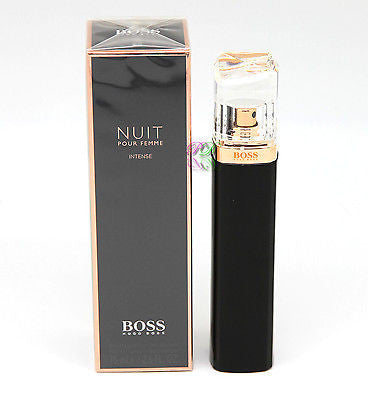 Hugo Boss Nuit Gießen Femme Intense Edp 75ml Frauen Parfüm Spray Boxed New