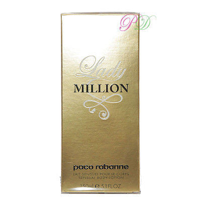 Paco Rabanne Lady Million Körperlotion 150ml Frauendüfte Boxed & Sealed Neu
