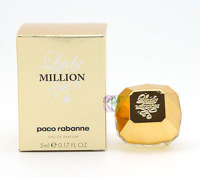 Paco Rabanne Lady Million Edp 5ml Mini Women Perfume Miniature Fragrances Boxed