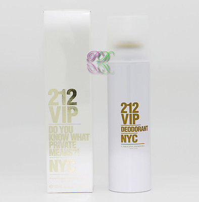 Carolina Herrera 212 Vip NYC Deodorant 150ml Women Fragrances New Spray